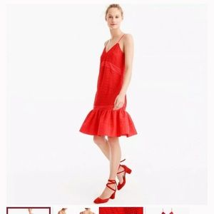 J. Crew NWT Red Eyelet Dress